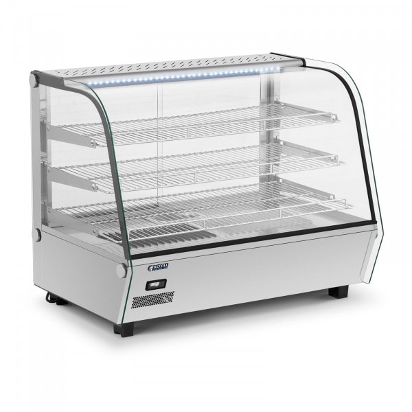 Vetrina calda da banco illuminata - 160 L - 1.500 W
