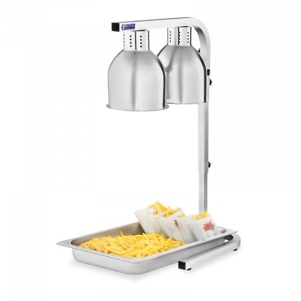 Lampada riscaldante per alimenti a raggi infrarossi - con contentitore GN 1/1