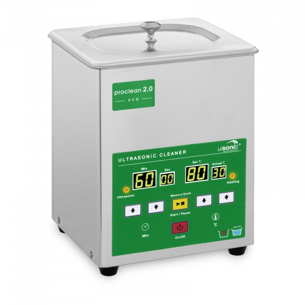 Lavatrice a ultrasuoni - 2 litri - 60 W - Memory Quick Eco