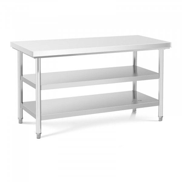 Tavolo acciaio inox - 150 x 70 cm - 600 kg - 3 livelli