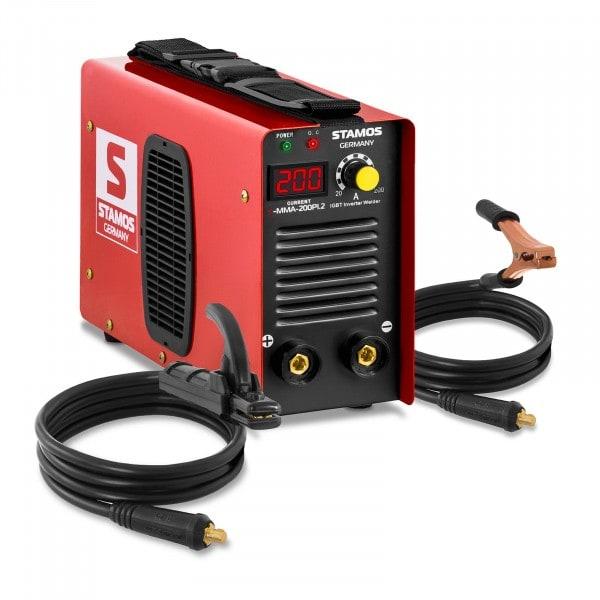 B-WARE Saldatrice MMA - 200 A - 230 V - Hot Start - IGBT - Display a LED