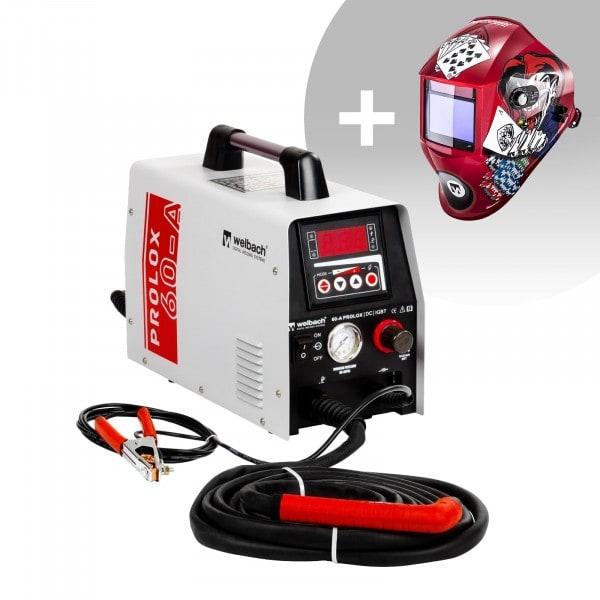 Set di saldatura Tagliatrice al plasma - 40 A - 230 V - digital - Innesto HF + Maschera da saldatore - Pokerface - PROFESSIONAL SERIES