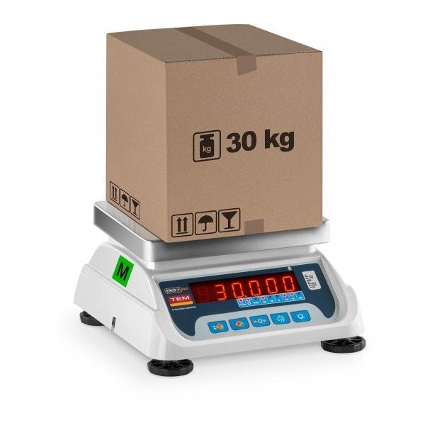 Bilancia da tavolo- tarata - 15 kg/ 5g - 30 kg/10 g - LED