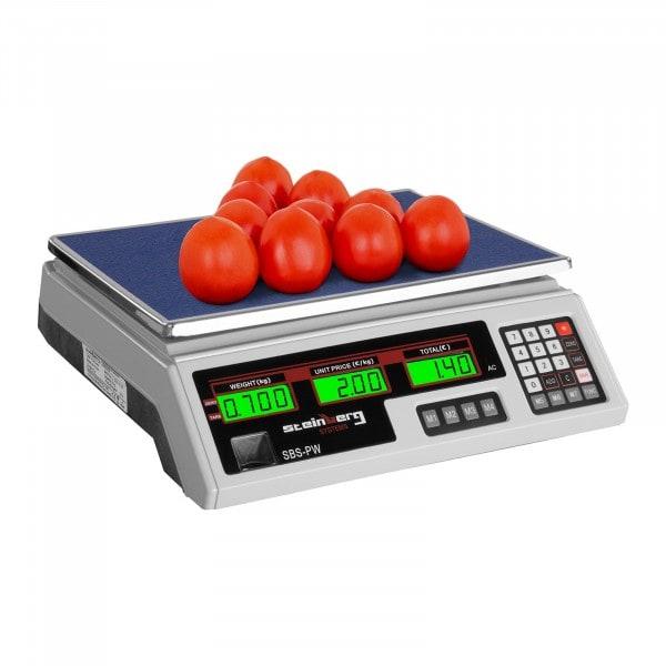 Bilancia da banco di controllo - 35 kg / 2 g - bianca - LCD