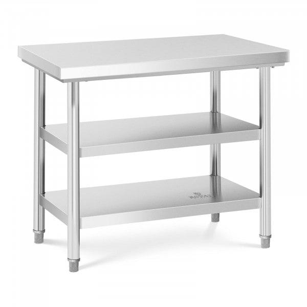 Tavolo acciaio inox - 100 x 70 cm - 600 kg - 3 livelli
