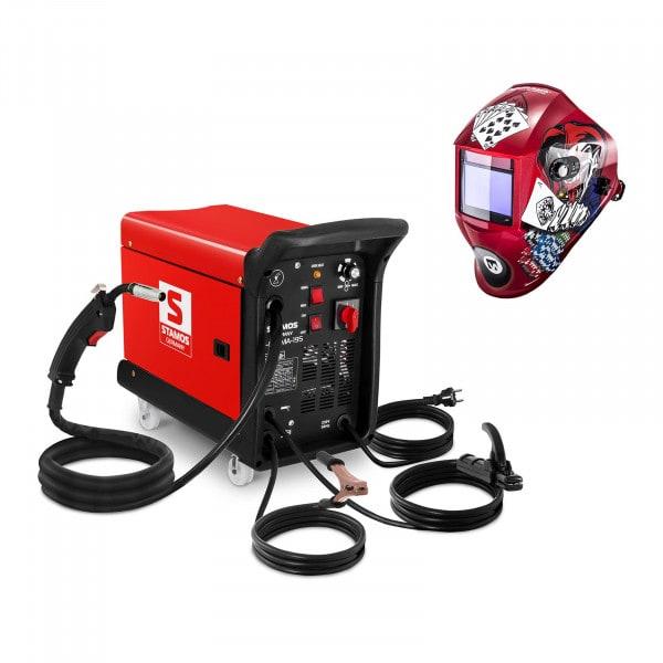 Set di saldatura Saldatrice multiprocesso - 195 A - 230 V - portatile + Maschera da saldatore - Pokerface - PROFESSIONAL SERIES