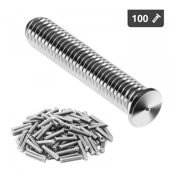 Perni a saldare - M5 - 25 mm - Acciaio inox - 100 pezzi