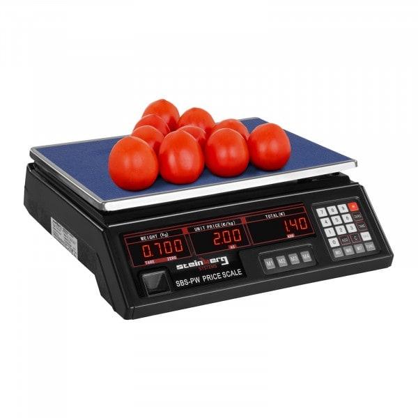 Bilancia da banco di controllo - 30 kg / 2 g - nera - LED