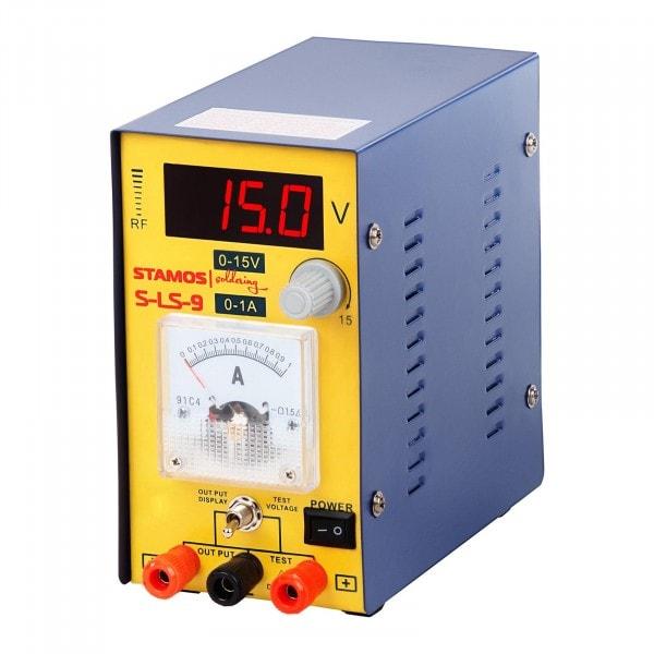 Seconda Mano Alimentatore da banco - 0-15 V , 0-1A DC