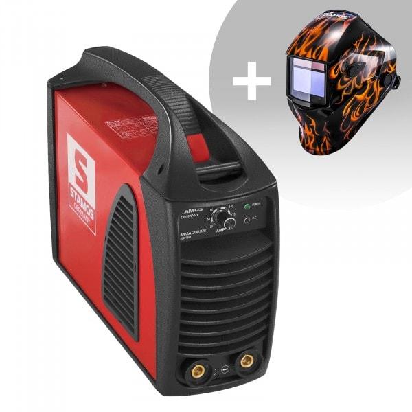 Set di saldatura Saldatrice MMA - 200 A 230 V IGBT + Maschera da saldatore - Firestarter 500 - ADVANCED SERIES