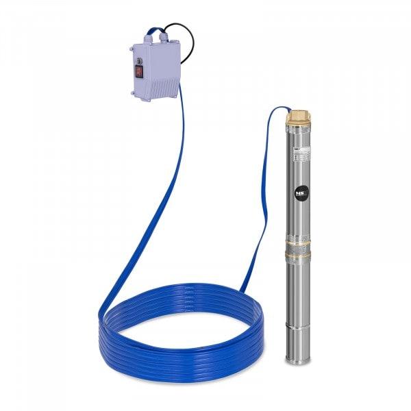 Pompa sommersa per pozzo - 3.800 L/h - 250 W - Acciaio inox