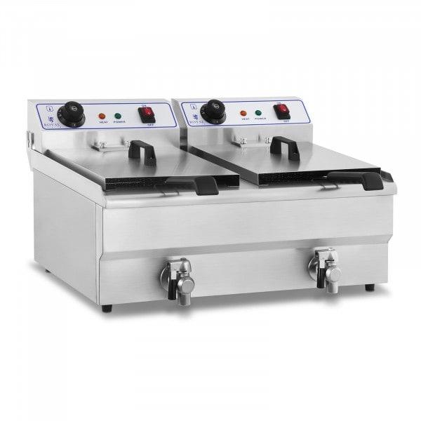 Friggitrice elettrica - 2 x 16 litri - 230 V