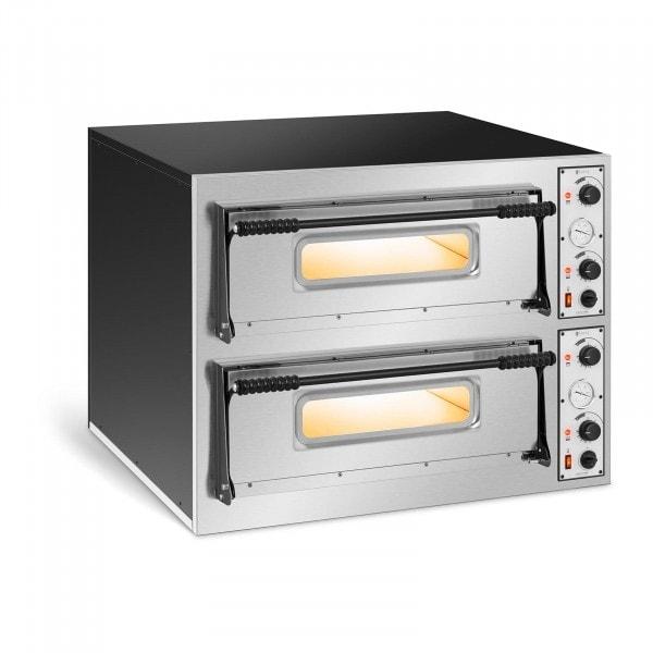 Forno elettrico per pizza professionale - 2 camere - 8 x Ø 32 cm