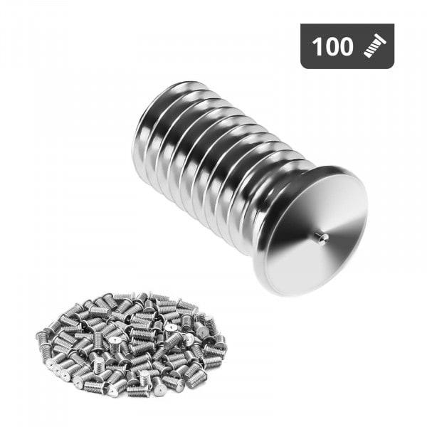 Perni a saldare - M8 - 16 mm - Acciaio inox - 100 pezzi