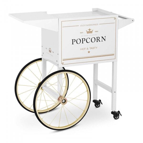 Carretto per macchina pop corn - Bianco e oro