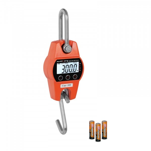 Bilancia a gancio - 300 kg / 100 g - arancione