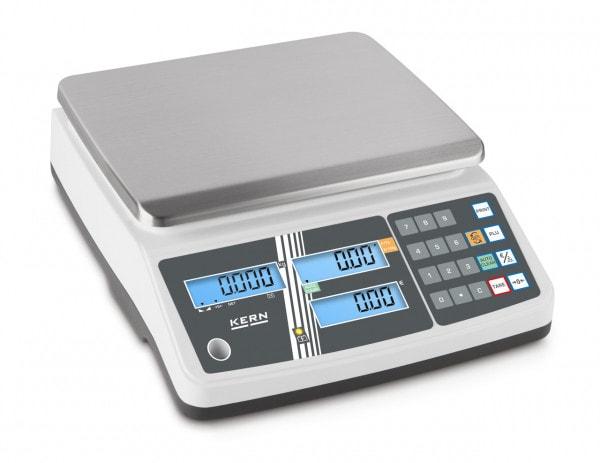 KERN Bilancia da banco - 6 kg / 2 g - Bianca - LCD