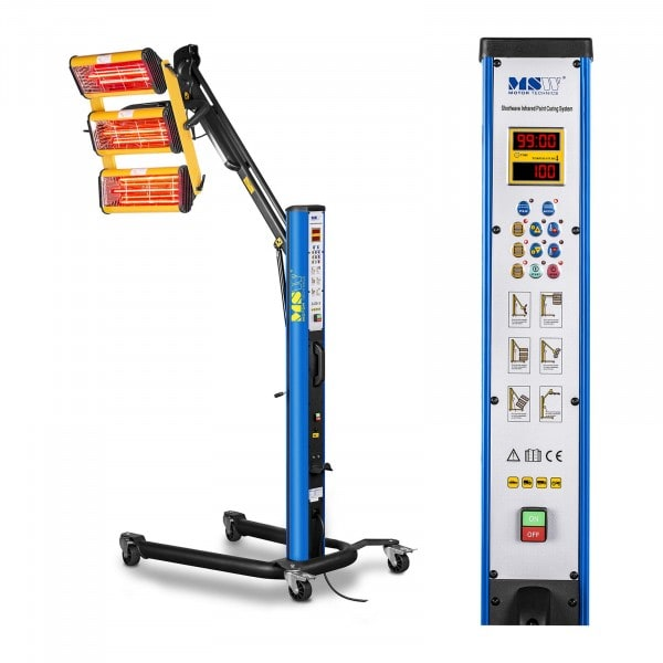 Lampada infrarossi per carrozzeria - 3300 W - 3 pannelli - Pulse