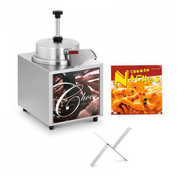 Dispenser salse riscaldato - Ideale per cioccolato e formaggio - 4,5 l