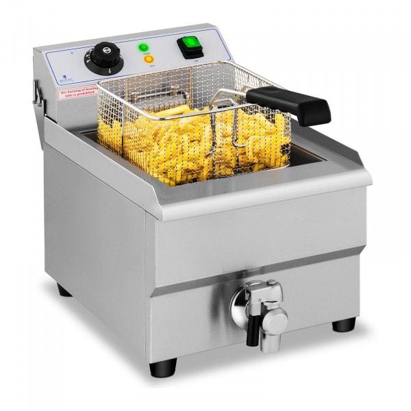Friggitrice elettrica - 16 litri - rubinetto di scarico - 230 V