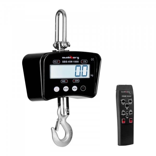 Bilancia a gancio - 1.000 kg / 0.5 kg - nera