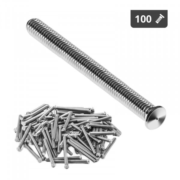 Perni a saldare - M4 - 40 mm - Acciaio inox - 100 pezzi
