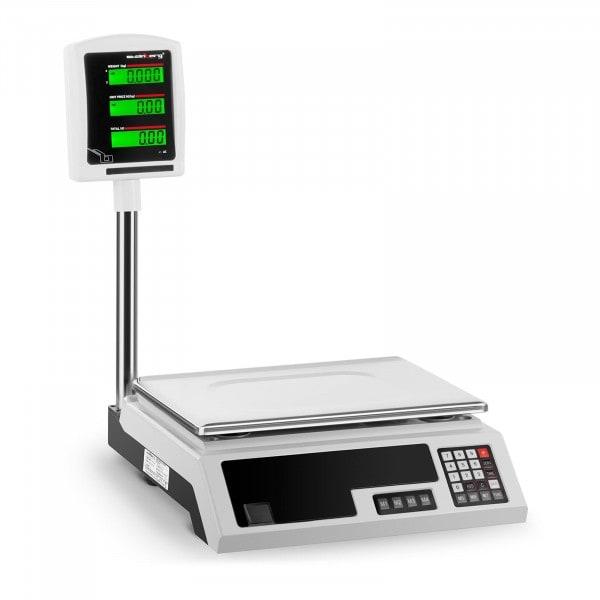 Bilancia da banco di controllo - 30 kg / 1 g - 34 x 23 cm - 2 LCD