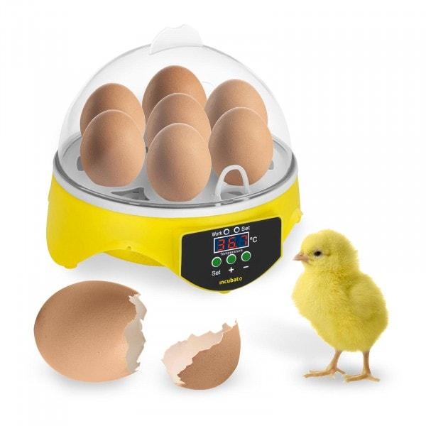 B-WARE Incubatrice per uova professionale - 7 uova - lampada sperauova inclusa