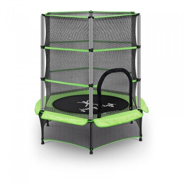 Tappeto elastico bambini - con rete di sicurezza - 140 cm - 50 kg - verde