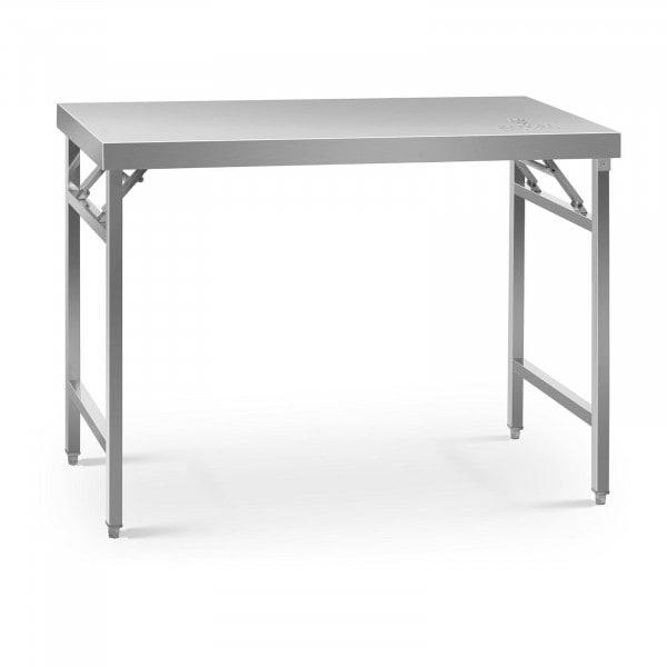 Tavolo acciaio pieghevole - 60 x 120 cm - 210 kg di carico