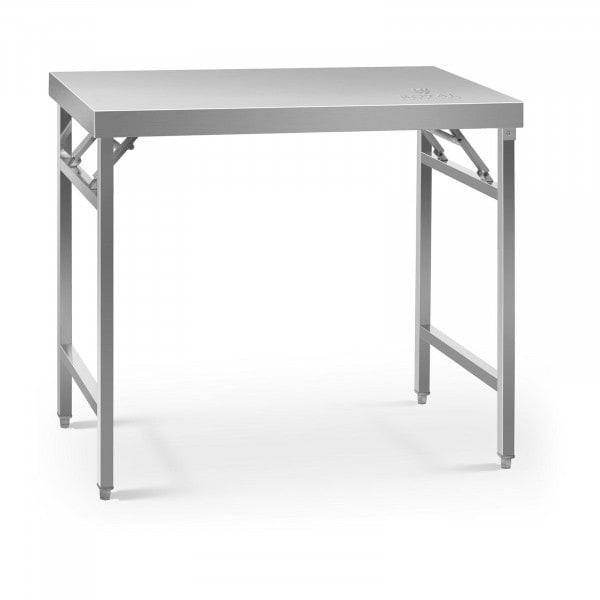 Tavolo acciaio pieghevole - 60 x 100 cm - 200 kg di carico