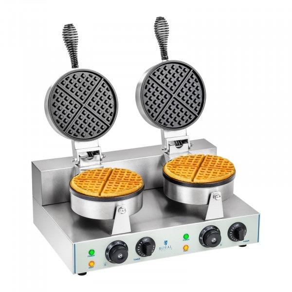 Piastra per waffel - 2 x 1.300 Watt - rotonda