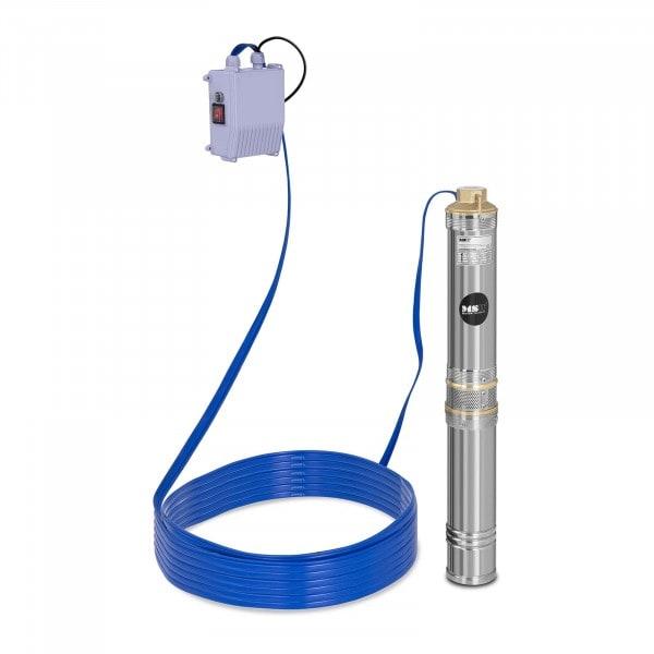 Pompa sommersa per pozzo - 6.000 L/h - 370 W - Acciaio inox