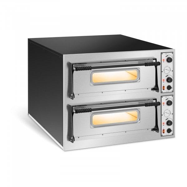 Forno elettrico per pizza professionale - 2 camere - 12 x Ø 32 cm
