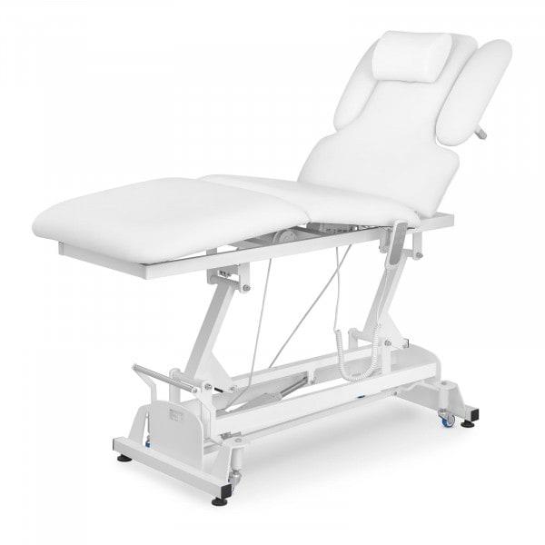 Lettino da massaggio PHYSA NANTES WHITE - elettrico