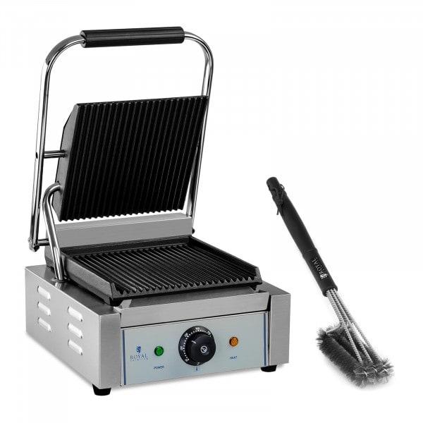 Set piastra panini e spazzola per griglia a tre teste - Rigata - 1.800 W