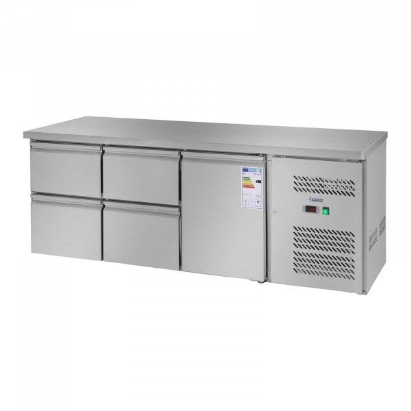 Tavolo refrigerato - 403 L - 1 porta - 4 cassetti