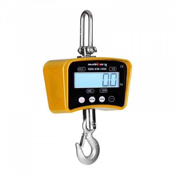 Bilancia a gancio - 1.000 kg / 0.2 kg - gialla