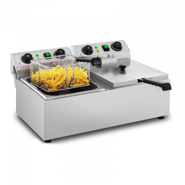 Friggitrice elettrica - 2 x 10 litri - timer - 230 V