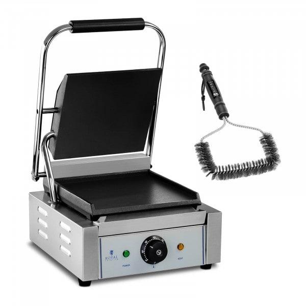 Set piastra panini e spazzola per griglia - 1.800 W - Liscia