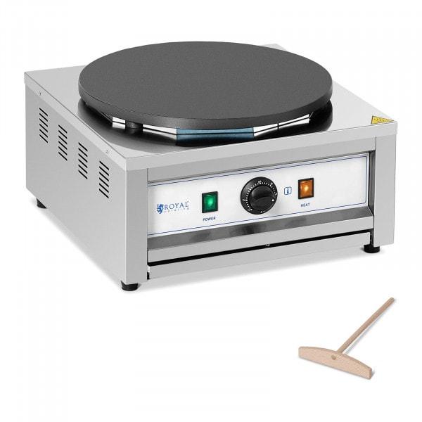 Crepiera elettrica - Piastra singola - 400 mm - 3000 W