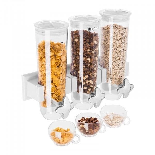 Dispenser per cereali triplo - 4,5 Litri