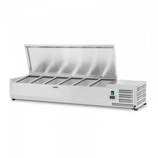 Vetrina refrigerata - 140 x 33 cm - 6 contenitori GN 1/4