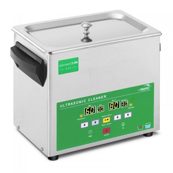 Lavatrice a ultrasuoni- 3 litri- 80 W - Memory Quick Eco