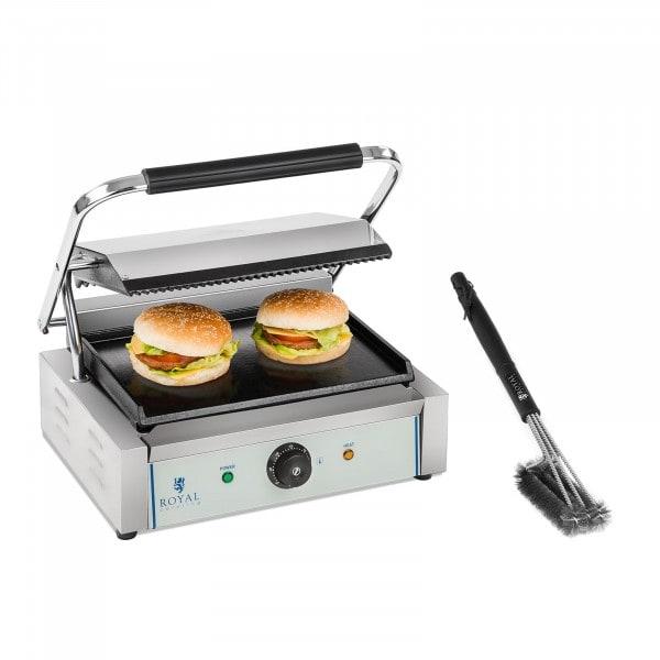 Set piastra panini e spazzola per griglia - 2.200 W - Parte superiore rigata