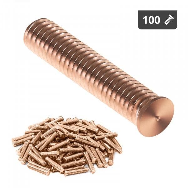 Perni a saldare - M8 - 40 mm - Acciaio - 100 pezzi