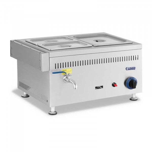 Bagnomaria a gas - 3300 W - 1 GN da 1/2 + 2 GN da 1/4 - 0,03 bar - G30