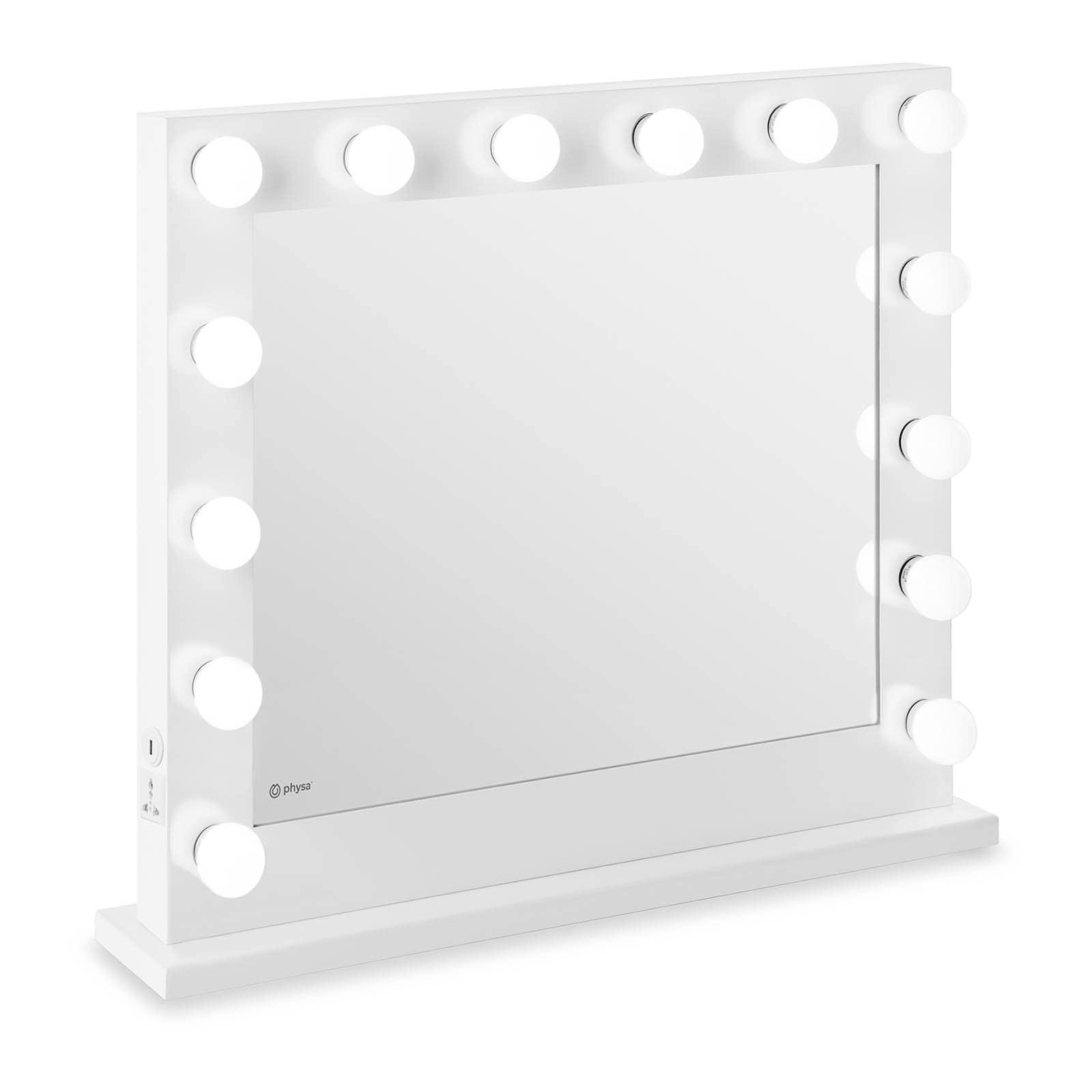 Specchio con lampadine