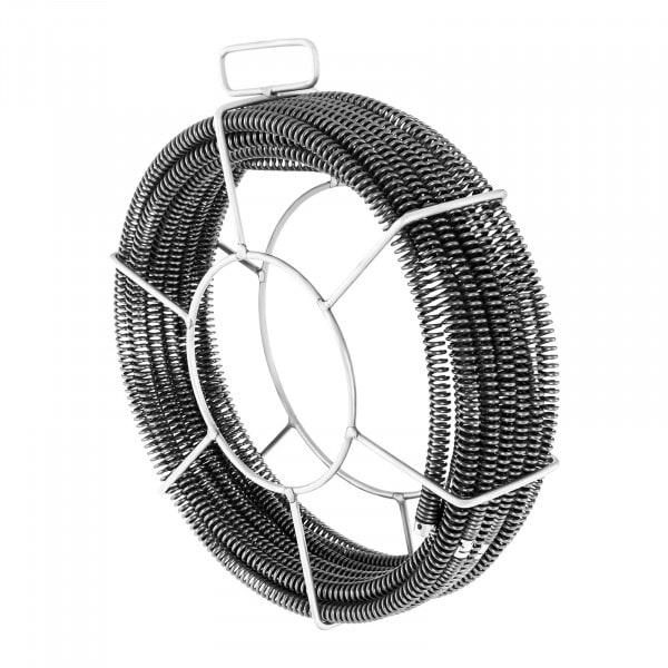 Sonda spurgatubi professionale Set - 5 x 2,3 m - Ø 16 mm & 1 x 2,4 m - Ø 15 mm