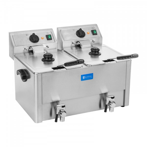 Friggitrice 2 vasche da 13 litri - Termostato EGO